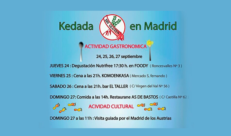 Kedada Sin Gluten en As de Bastos Madrid