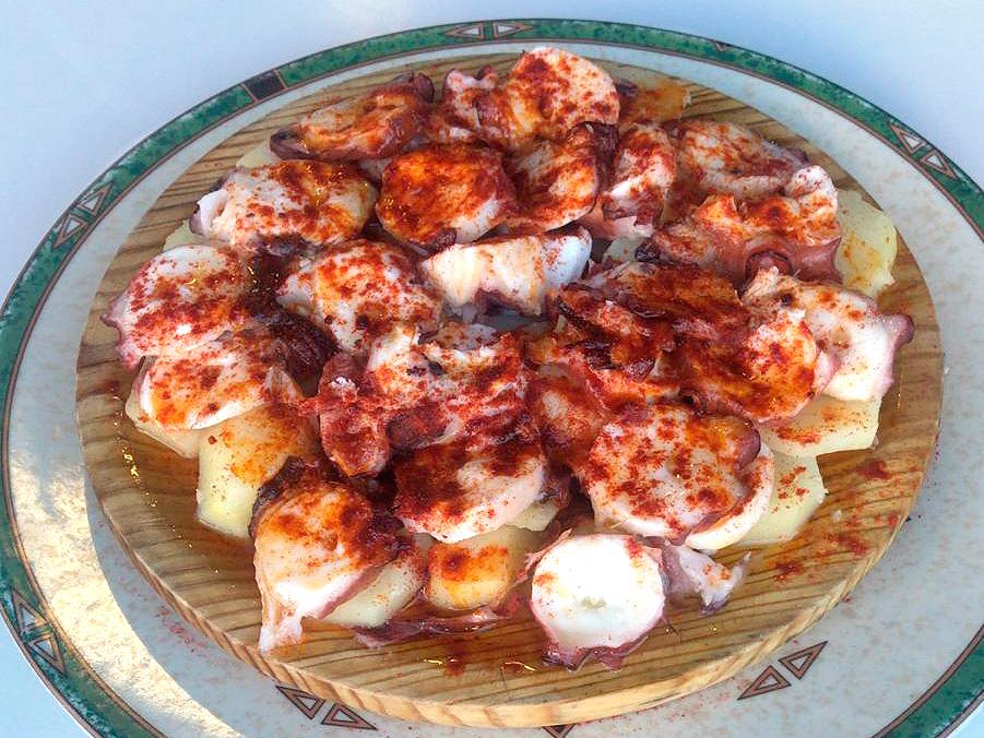 Pulpo a la gallega sin gluten del restaurante As de Bastos de Majadahonda