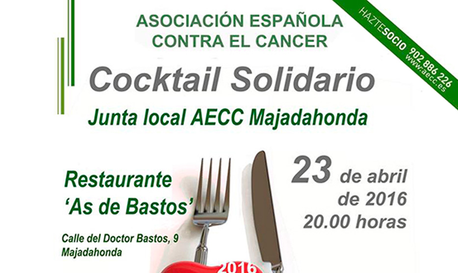 Cocktail solidario contra el cáncer en el restaurante as de bastos de Majadahonda